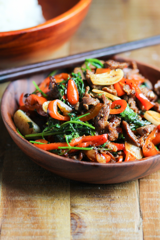 Marinated Beef Stir Fry With Cilantro-2