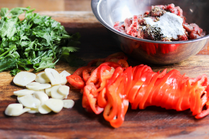 Marinated Beef Stir Fry With Cilantro Ingredients