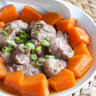 Steamed Pork Rib and Pumpkin