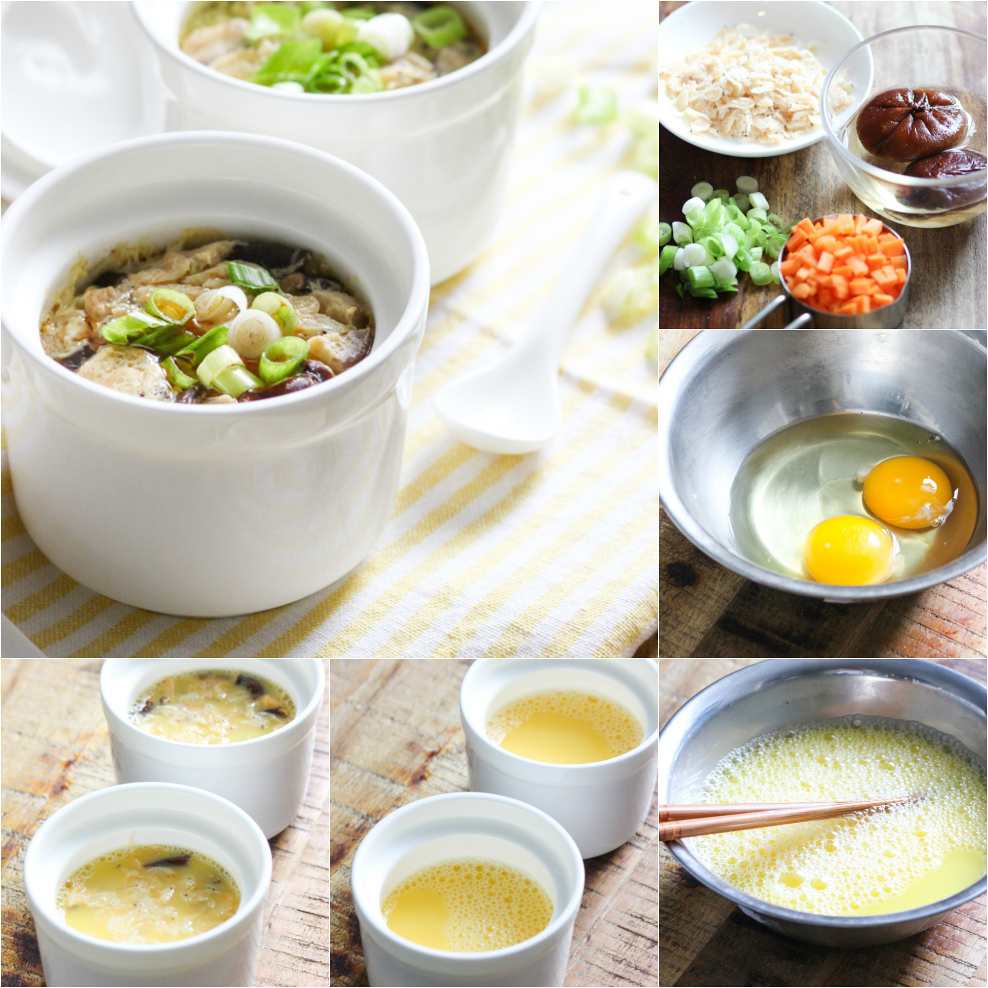 how-to-make-steamed-egg-with-mushroom