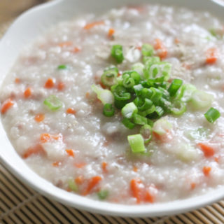 Beef and Carrot Congee