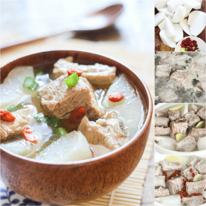 how to make pork rib soup with daikon