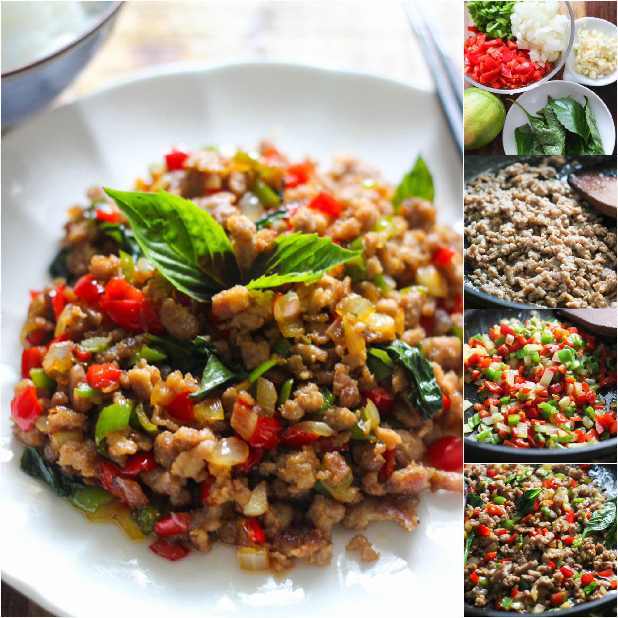 how to make thai basil minced pork