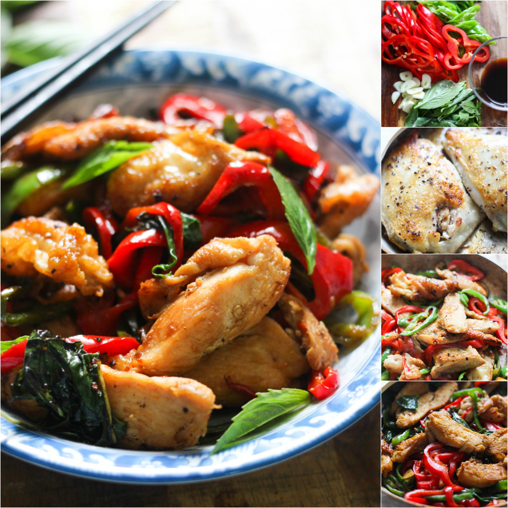 how to make thai basil chicken