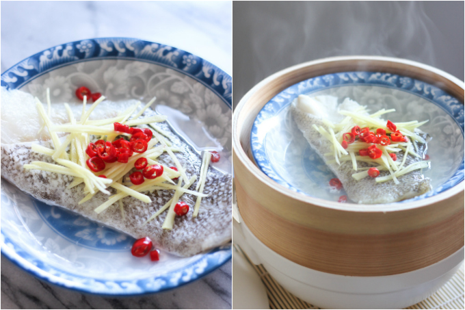 Steamed Cod Fish Steps