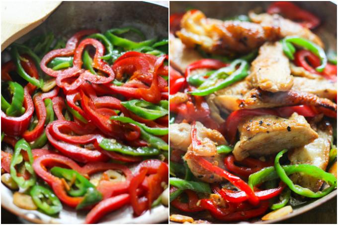 Thai basil chicken step one