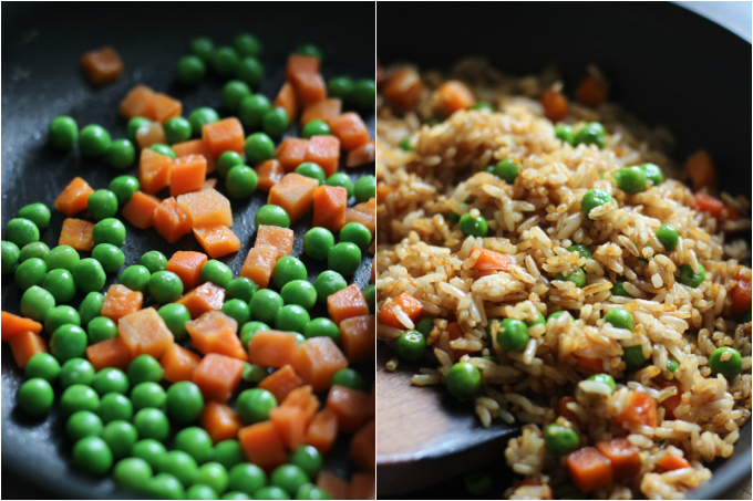 vegetable fried rice step
