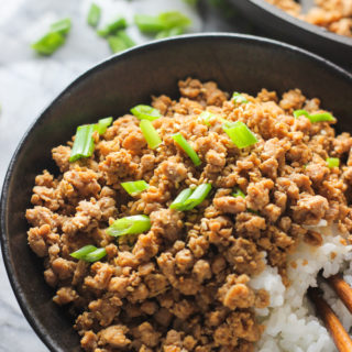 Ginger Minced Pork Rice Bowl Feature