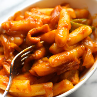 Spicy Rice Cakes (Tteokbokki)