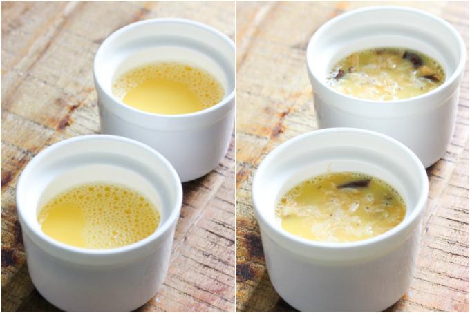 Steamed Egg with Dried Shrimp and Mushroom Ingredient Steps