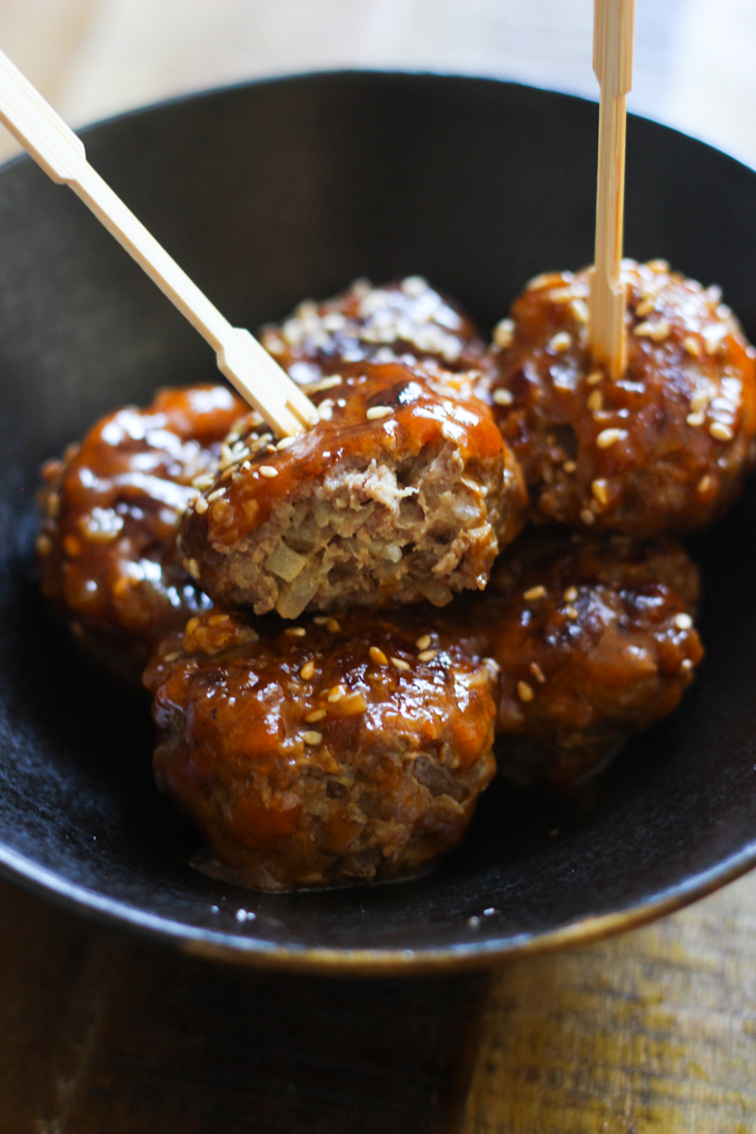 Sweet and Sour Meatballs Appetizer