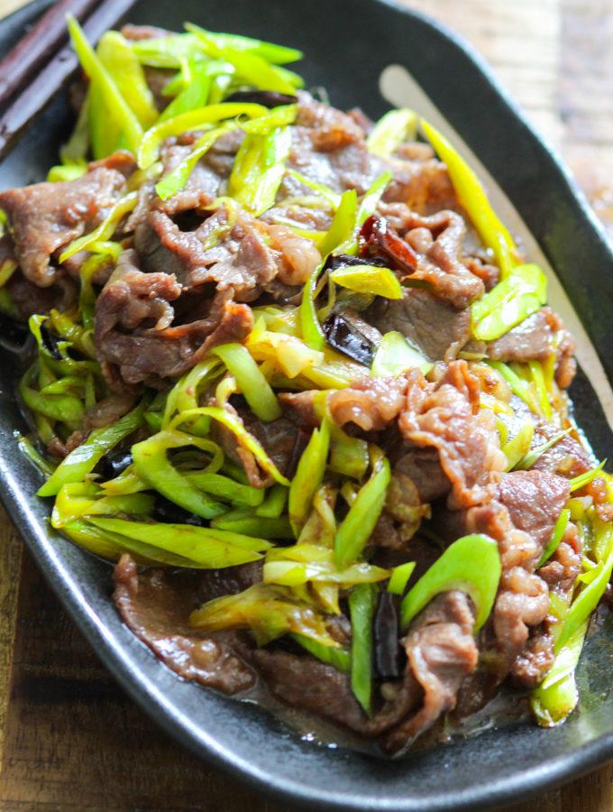 Stir-fried Beef with Leeks