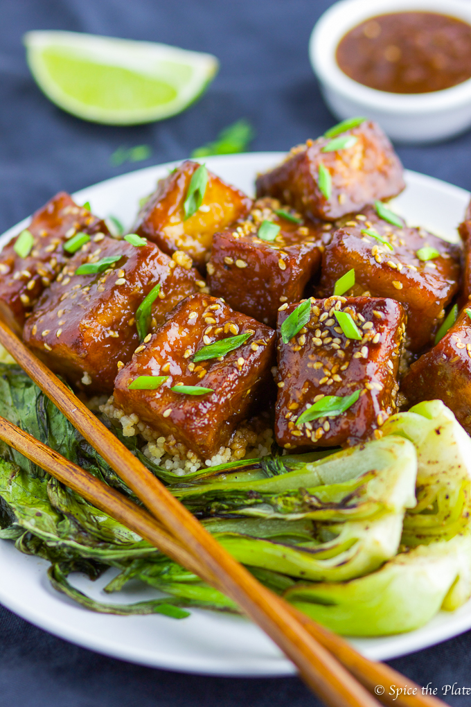 Soy-Brown Sugar Glazed Tofu