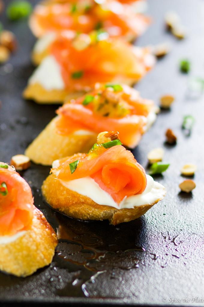 Smoked salmon montadito image
