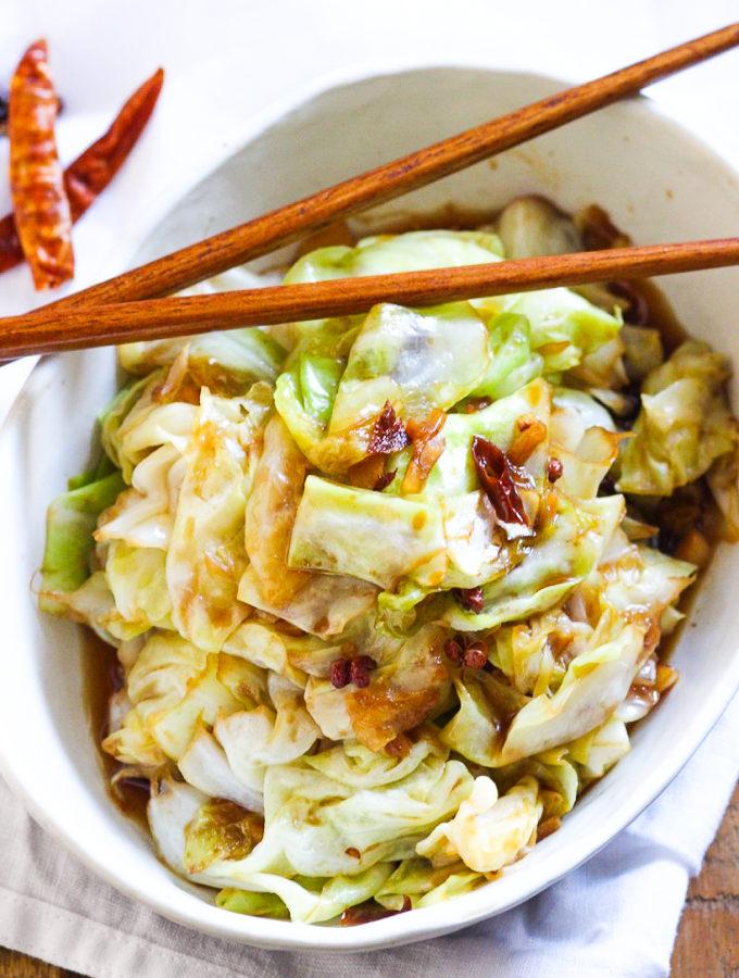 Spicy Szechuan Cabbage Stir Fry