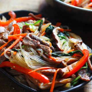 Korean Sweet Potato Noodles with Beef