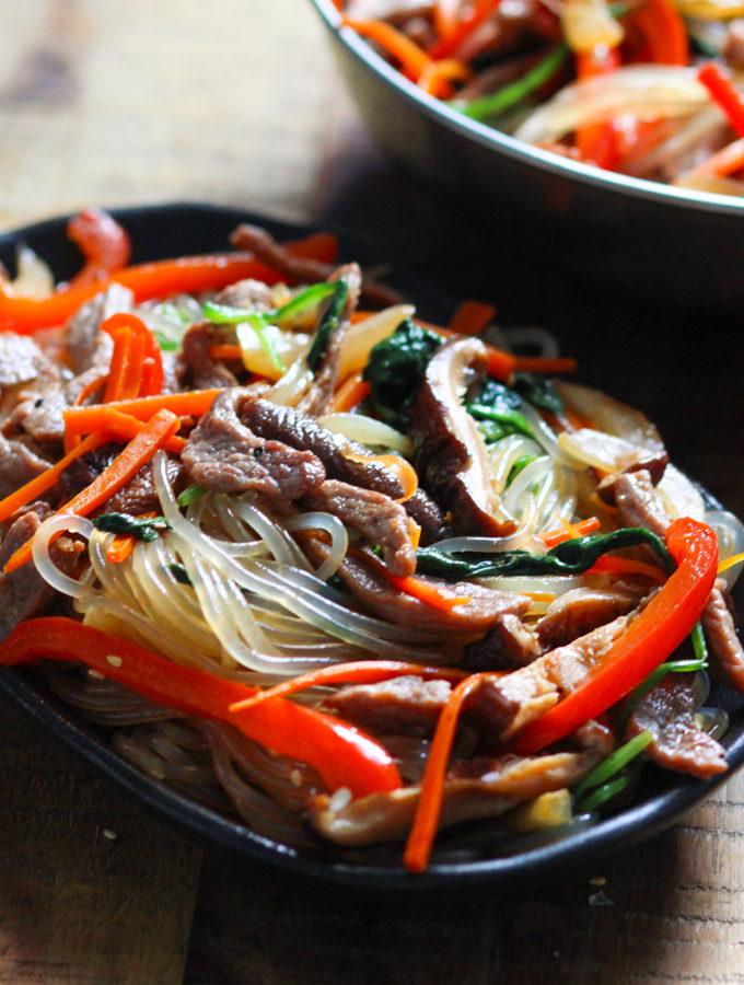 Korean Sweet Potato Noodles with Beef