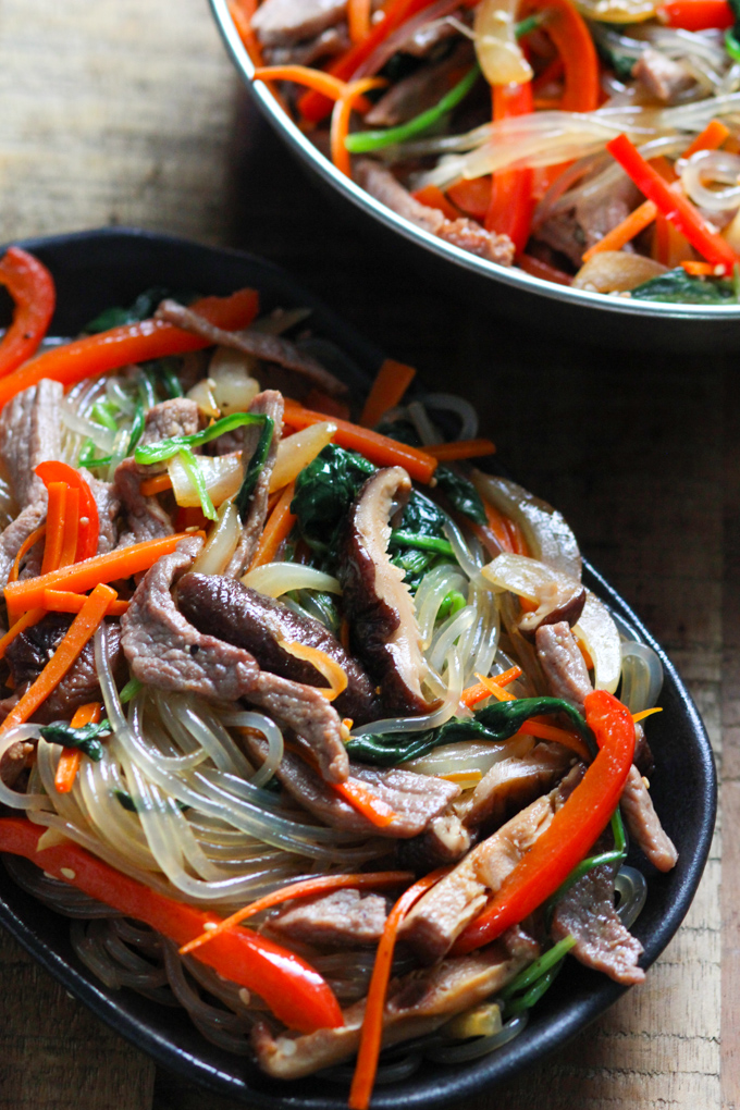 Korean Sweet Potato Noodles with Beef Image